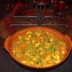 Indian Matar Paneer peas and Paneer in Tomato Sauce Appetizer