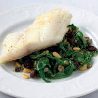 Canadian Pollock with Spinach and Pine Nuts Appetizer