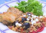 American Greek Chicken With Orzo Dinner
