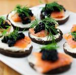 American Salmon and Caviar Appetisers Appetizer