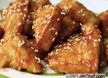 Chinese Sweet and Sour Tofu Appetizer