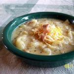 American Soup of Potatoes with Cheese and Bacon Appetizer