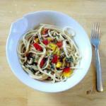 Chinese Warm Oriental Noodle Salad Dinner