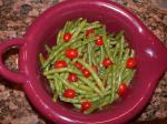 American Green Beans and Tomatoes in a Pesto Vinaigrette Dinner
