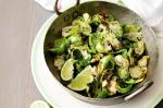 American Charred Brussels Sprout Leaves With Sweet Soy And Honey Recipe Dessert