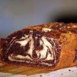 Canadian Marble Cake with Chocolate Sauce Dessert