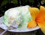 American Green Angel Cake With Fluffy Fruit Flavor Frosting Dessert