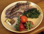 Romanian Skirt Steak With Golden Garlic and Fried Parsley recipe