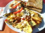 American Feta Pepper Omelets for Appetizer