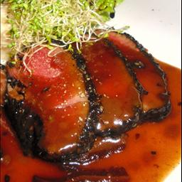 Canadian Ahi Tuna Blackened with Soy Mustard Sauce and Beurre Blanc boom BBQ Grill