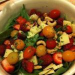 American Spinach Salad and Red Fruits Dessert