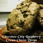 American Chocolate Chip Raspberry Cream Cheese Drops Dessert