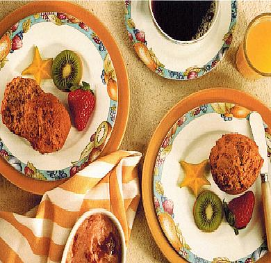 Canadian Banana Bran Muffins with Strawberry Butter Breakfast