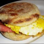 Canadian Fried Egg and Ham Sandwich Dinner