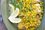 Indian Halibut with Indian Rub and Corn Salsa Recipe Dinner