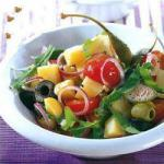 American Potato Salad with Rocket and Cherry Tomatoes Dinner