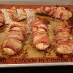Mexican Breasts Wrapped in Bacon Appetizer