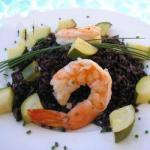 British Black Rice with Prawns 2 Dinner