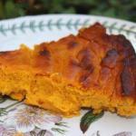 British Pumpkin Flan with Coconut Milk Appetizer