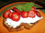 American Grilled Madeira Cake With Berries Dessert