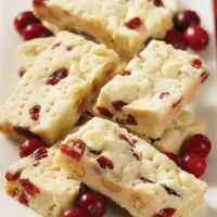 Polish cranberry and white Chocolate Cookies Dessert
