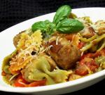 Italian Italian Turkey Sausage and Peppers With Bow Tie Pasta Dinner