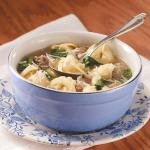 Canadian Sausage and Spinach Tortellini Soup Appetizer