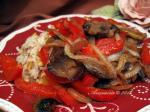 American Mushroom Red Pepper and Onion Saute Appetizer