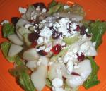 American Autumn Bittersweet Salad With Cranberry Vinaigrette Appetizer