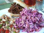 American Red and Green Coleslaw Appetizer