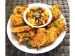 Indian Indian Restaurant Style Onion Bhaji  Deep Fried Onion Fritters Appetizer