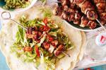 Chinese Fivespice Chicken Skewers With Coriander Pancakes Recipe Appetizer