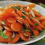 American Carrot Salad and Almond with Raspberry Vinaigrette Drink