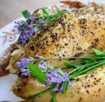 Lavender Lovage and Lime Roast Chicken With Honey