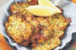 British Feta And Zucchini Fritters Recipe Appetizer
