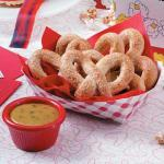 British Soft Pretzels with Mustard Appetizer