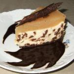 American Cheesecake Pears and Chocolate Dessert