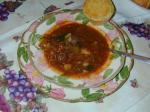 American Hearty Beef and Vegetable Soup With Mushrooms Appetizer