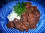 American Crock Pot Beef With Mushroom and Red Wine Gravy Appetizer