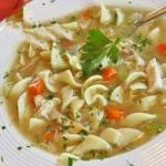 American Grandmas Chicken Noodle Soup Recipe Dinner
