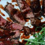 British Fillet with Maple Balsamic Wine Sauce Alcohol