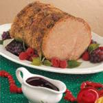American Roast Pork with Raspberry Sauce Dessert