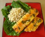 American Creamy Corn and Spinach Enchiladas With Chicken Appetizer