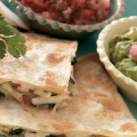 Romanian Artichoke and Spinach Quesadillas Appetizer