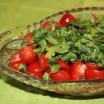 Canadian Tomato Salad Marinated Cherries Appetizer