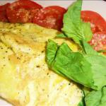 Greek Potato Spinach and Feta Cheese Omelet recipe