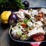 American Chicken in the Oven with Olives Appetizer