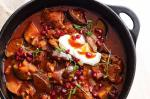 American Lamb Pomegranate and Eggplant Tagine Recipe Appetizer