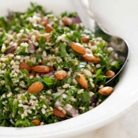 Egyptian Brown Rice and Almond Tabbouleh Appetizer