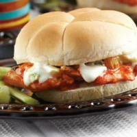 Canadian Buffalo Chicken Sandwich Appetizer